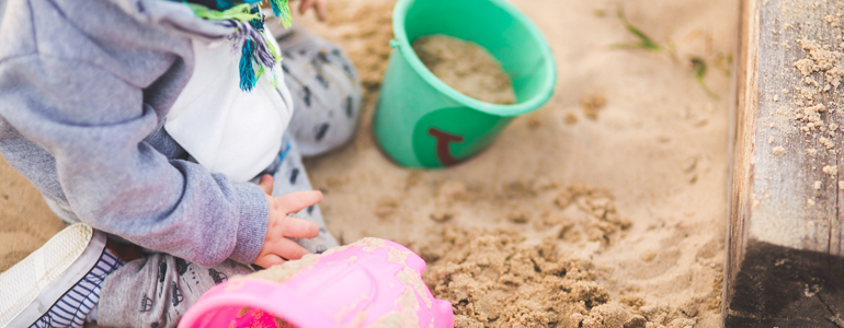 Kid Playing in the Sand