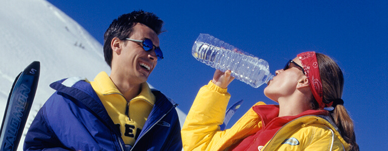 drink water before you hit the slopes