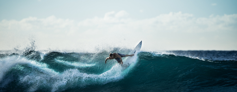 best surfing location waves holiday
