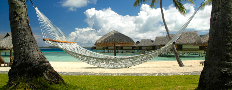 hammock hotels on tropical island